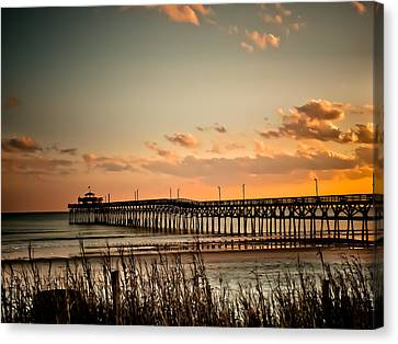South Carolina Canvas Print - Cherry Grove Pier Myrtle Beach Sc by Trish Tritz
