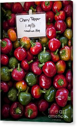Cherry Peppers Canvas Print by Janice Rae Pariza
