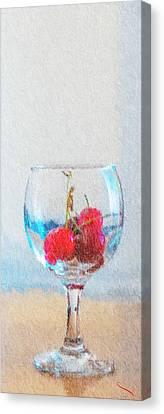 Cherry Canvas Print by SM Shahrokni