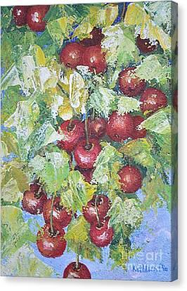 Cherry Time Canvas Print by Kathleen Pio