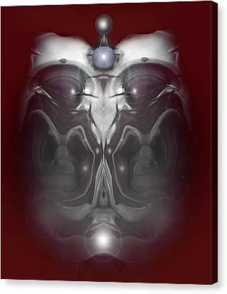 Canvas Print featuring the digital art Cherub 7 by Otto Rapp