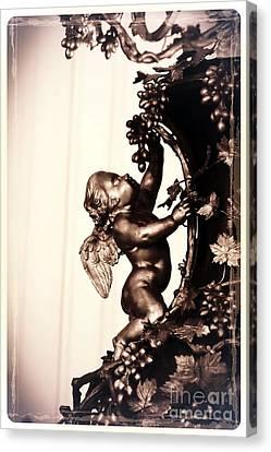 Cherub In Sepia Canvas Print by Carol Groenen