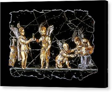 Cherubs Of Bacchus Canvas Print by Steve Bogdanoff