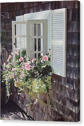 Cheryl's Window Canvas Print by Julia O'Malley-Keyes