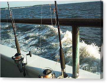 Canvas Print featuring the photograph Chesapeake Bay Fishing by Emmy Marie Vickers