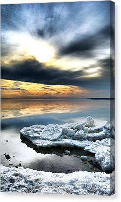 Chesapeake Bay Winter Canvas Print by Olivier Le Queinec