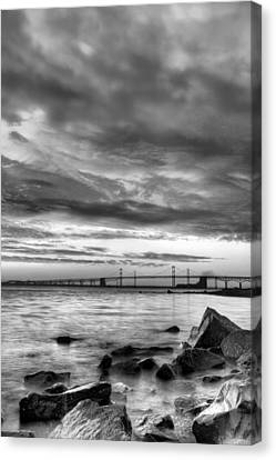Md Canvas Print - Chesapeake Mornings Bw by JC Findley