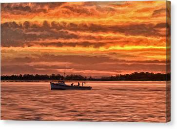 Chesapeake Watermen Canvas Print by Michael Pickett