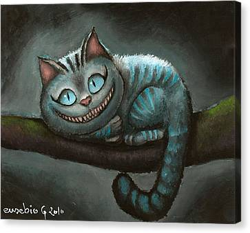Cheshire Cat Canvas Print by Eusebio Guerra