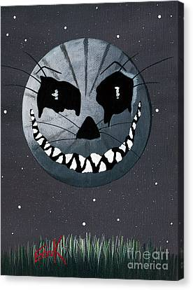 Man In The Moon Canvas Print - Alice In Wonderland Artwork - Cheshire Moon by Shawna Erback