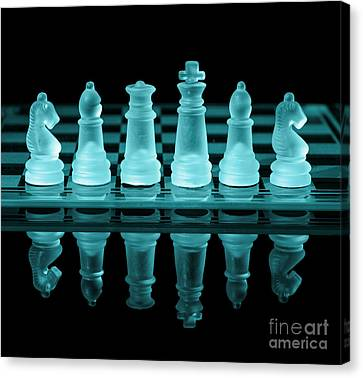 Chess Board Canvas Print by Amanda Elwell