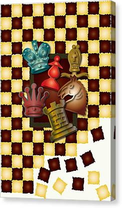 Chess Boxes Canvas Print