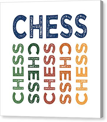 Chess Cute Colorful Canvas Print