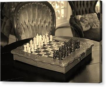 Canvas Print featuring the photograph Chess Game by Cynthia Guinn