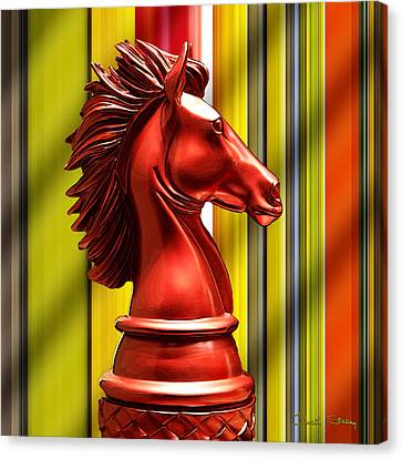 Chess Piece - Knight Canvas Print by Chuck Staley