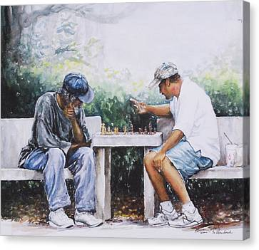 Chess Players Canvas Print