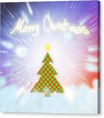 Chess Style Christmas Tree Canvas Print by Atiketta Sangasaeng
