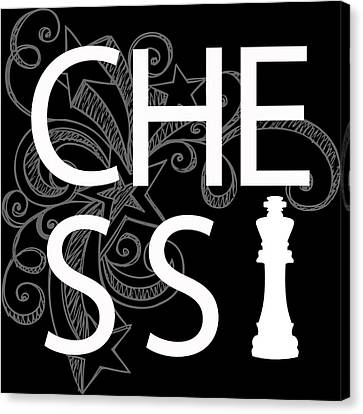 Chess The Game Of Kings Canvas Print by Daniel Hagerman