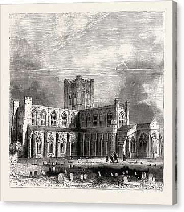 Chester Cathedral, Is The Mother Church Of The Church Canvas Print by English School
