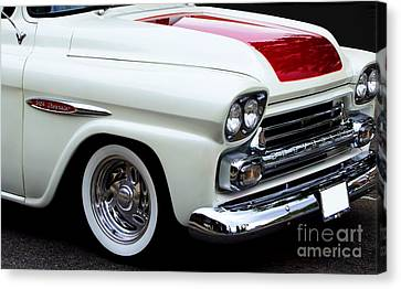 Red Chev Canvas Print - Chev Truck by Steven Parker