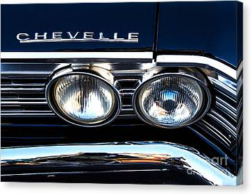 Chevelle Headlight Canvas Print by Jerry Fornarotto