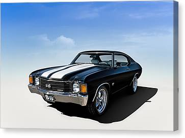 White Chevy Canvas Print - Chevelle Ss by Douglas Pittman