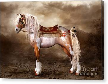 Hopi Canvas Print - Cheveyo Native American Spirit Horse by Shanina Conway
