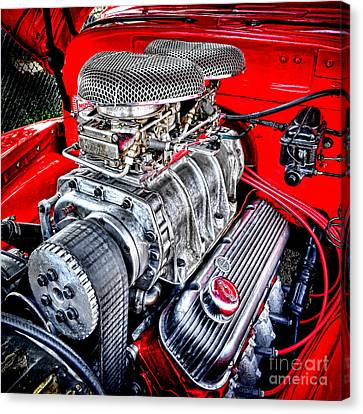 Drag Racing Canvas Print - Chevrolesque by Olivier Le Queinec