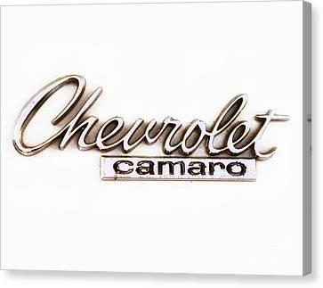 Chevrolet Camaro Emblem Canvas Print by Jerry Fornarotto