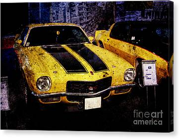 Canvas Print featuring the photograph Chevrolet Camaro by Mohamed Elkhamisy