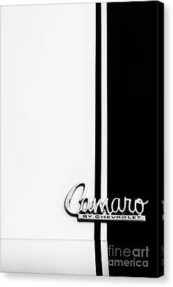 Chevrolet Camaro Monochrome Canvas Print by Tim Gainey