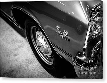 Chevrolet Chevelle 396 Black And White Picture Canvas Print by Paul Velgos