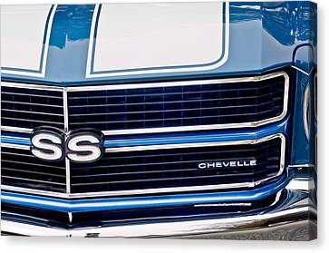 Chevrolet Chevelle Ss Grille Emblem 2 Canvas Print by Jill Reger