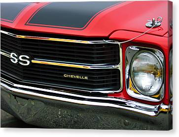 Chevrolet Chevelle Ss Grille Emblem Canvas Print by Jill Reger
