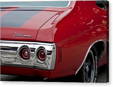 Chevrolet Chevelle Ss Taillight Emblem 3 Canvas Print by Jill Reger