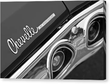 Chevrolet Chevelle Ss Taillight Emblem Canvas Print by Jill Reger