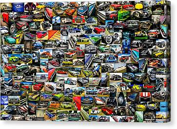 Chevrolet Collage Canvas Print by motography aka Phil Clark