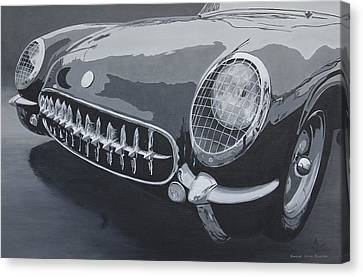 Chevrolet Corvette 1954 Canvas Print by Anna Ruzsan