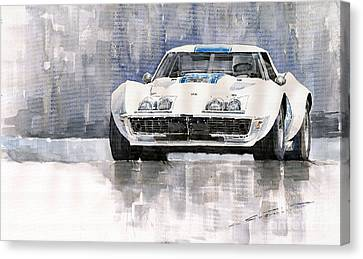 Chevrolets Canvas Print - Chevrolet Corvette C3 by Yuriy  Shevchuk