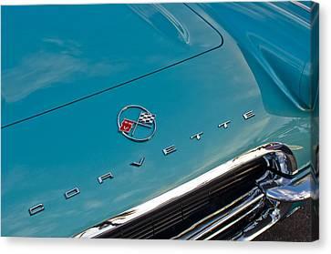 Chevrolet Corvette Hood Emblem 2 Canvas Print by Jill Reger