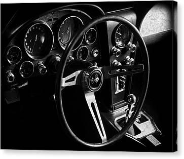 Sting Ray Canvas Print - Chevrolet Corvette Sting Ray Interior by Mark Rogan