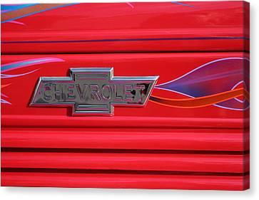 Chevrolet Emblem Canvas Print by Carol Leigh