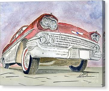 Canvas Print featuring the painting Chevrolet II by Eva Ason