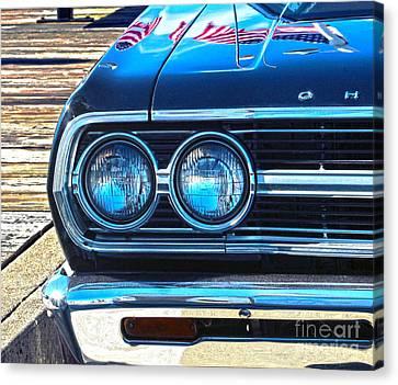 Chevrolet In American Town Canvas Print by Sebastian Mathews Szewczyk