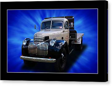Canvas Print featuring the photograph Chevrolet Maple Leaf Truck by Keith Hawley