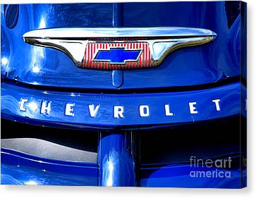 Chevrolet Pickup Hood Ornament Canvas Print by Olivier Le Queinec