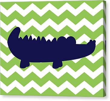Alligator Canvas Print - Chevron Alligator by Tamara Robinson