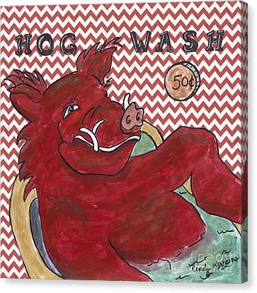 Chevron Hog Wash Canvas Print by Cindy Watkins