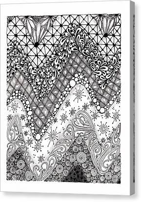 Chevron Tangle Canvas Print by Paula Dickerhoff