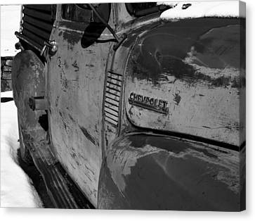 Chevy B/w Canvas Print by Gia Marie Houck